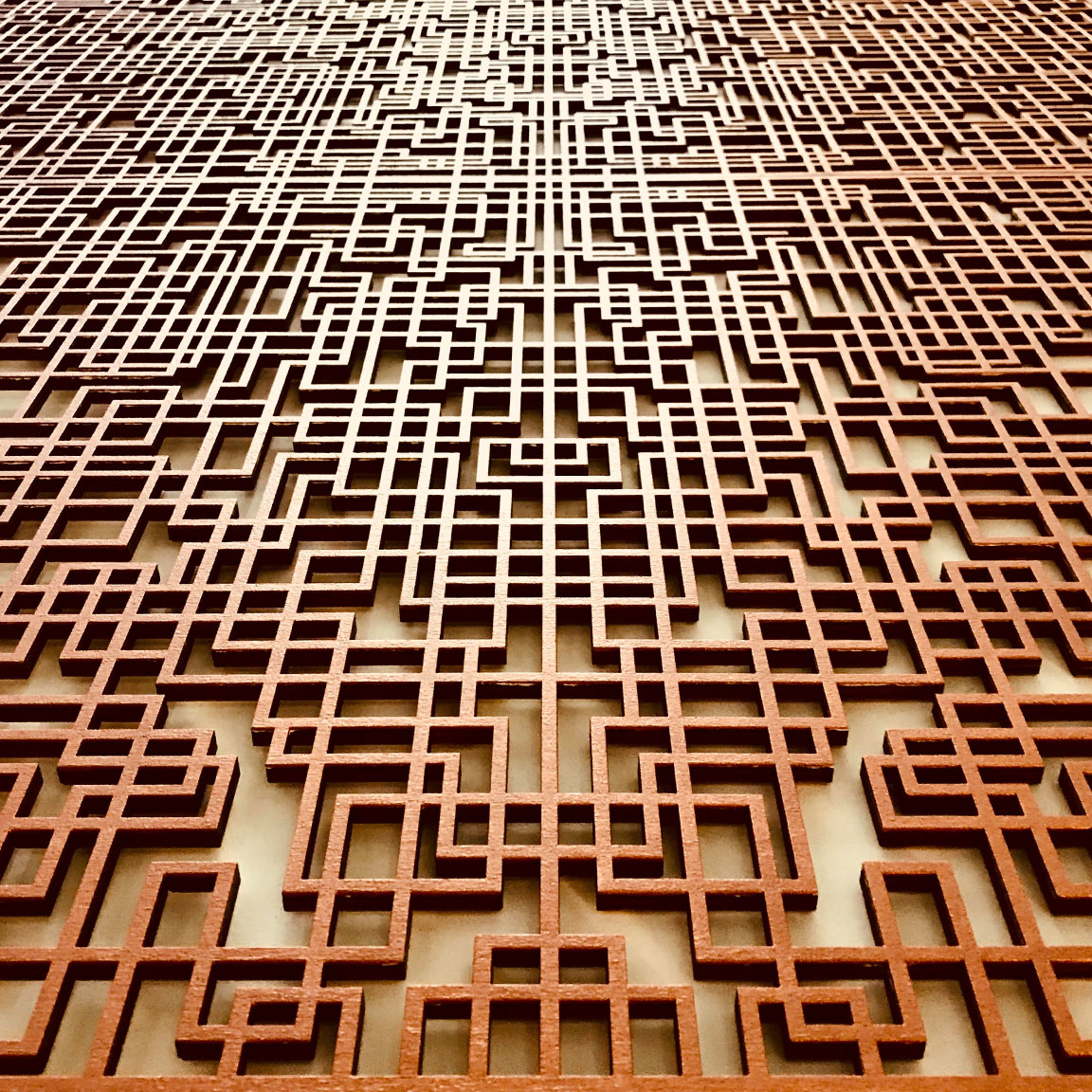 Laser cut lattice framework, plywood, Sydney